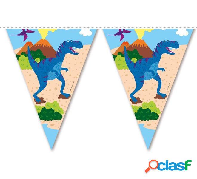Guirnalda de Banderines de Dinosaurios de 3,6 mts
