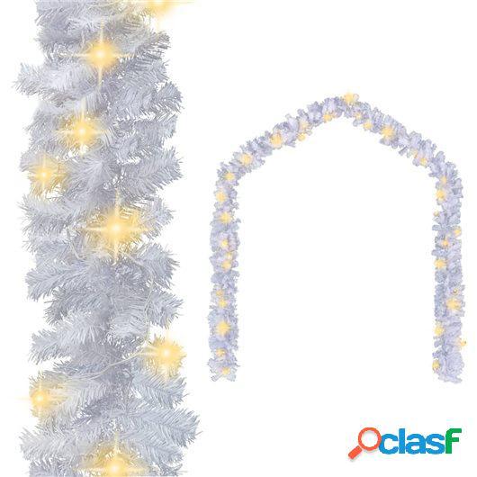Guirnalda de Navidad con luces LED blanco 10 m