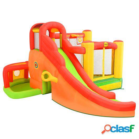 Happy Hop Castillo hinchable con tobogán 450x380x230 cm PVC