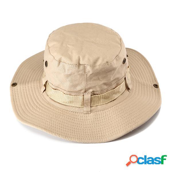 Hombres Mujer Aire libre pesca Cubeta Sombrero Visera
