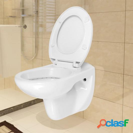 Inodoro WC de montaje en pared con cierre suave cerámica