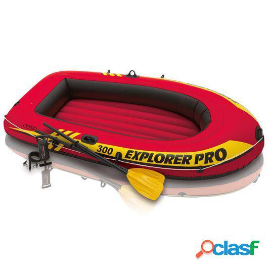 Intex Barca hinchable Explorer Pro 200 con remos y bomba