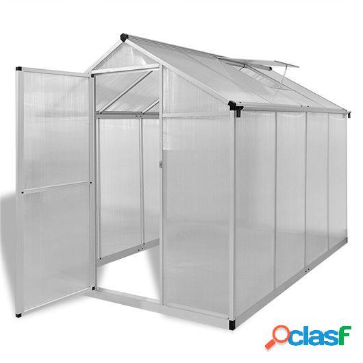 Invernadero de aluminio reforzado con marco base 4,6 m²