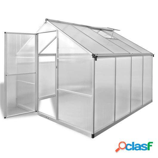 Invernadero de aluminio reforzado con marco base 6,05 m²