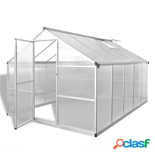 Invernadero de aluminio reforzado con marco base 7,55 m²