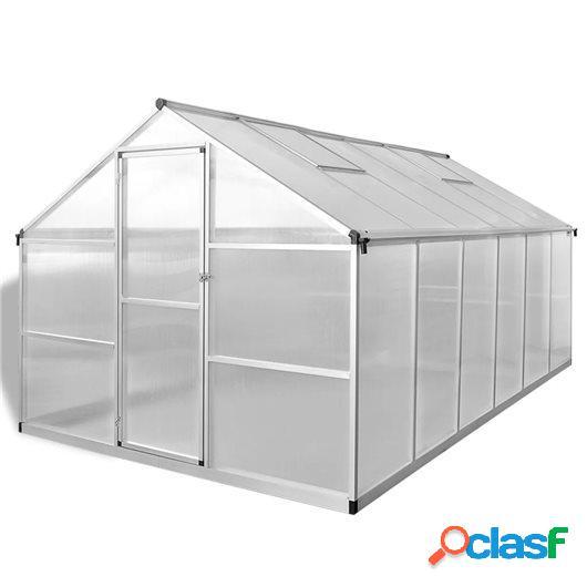 Invernadero de aluminio reforzado con marco base 9,025 m²