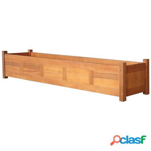 Jardinera de jardín de madera de acacia 150x30x25 cm