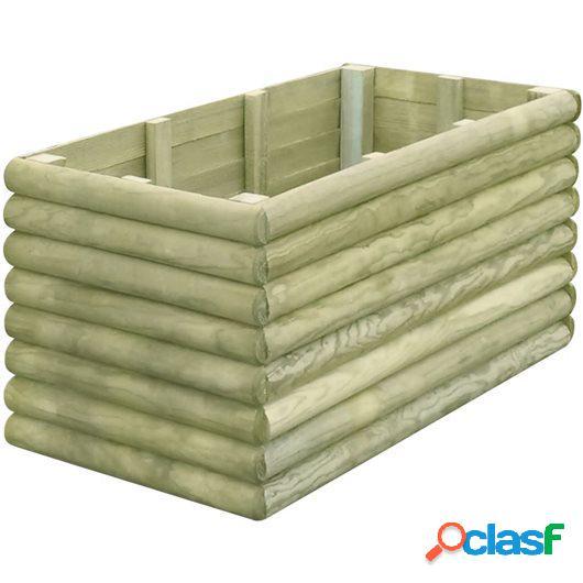 Jardinera de madera de pino impregnada FSC 106x56x48 cm