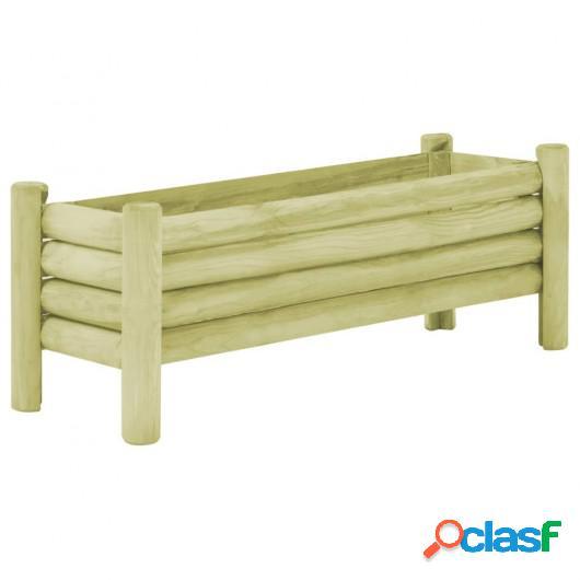 Jardinera de madera de pino impregnada FSC 120x40x42 cm
