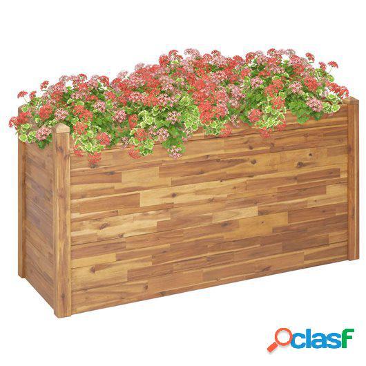 Jardinera de madera maciza de acacia 160x60x84 cm
