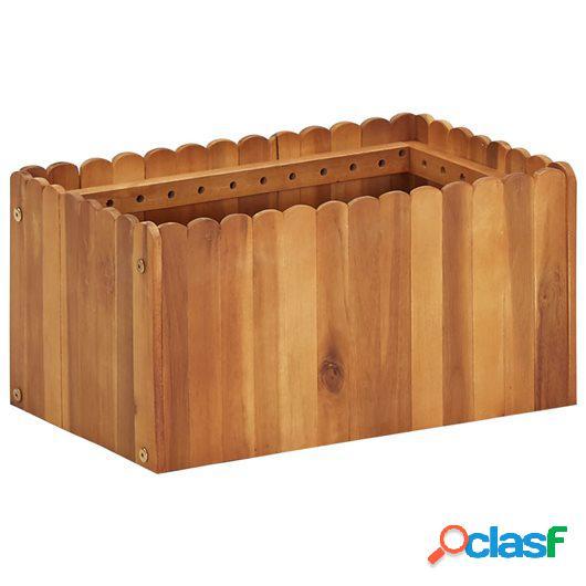 Jardinera de madera maciza de acacia 50x30x25 cm
