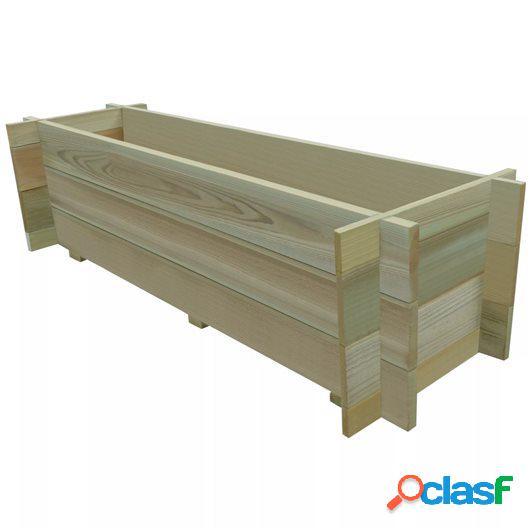 Jardinera de verduras madera pino impregnada FSC 120 cm