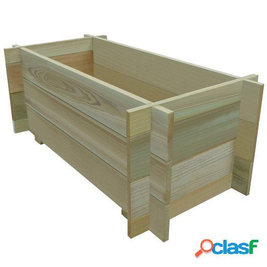 Jardinera de verduras madera pino impregnada FSC 80 cm