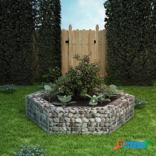 Jardinera hexagonal de gaviones 200x173x40 cm