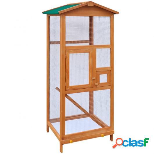 Jaula para pájaros madera 65x63x165 cm