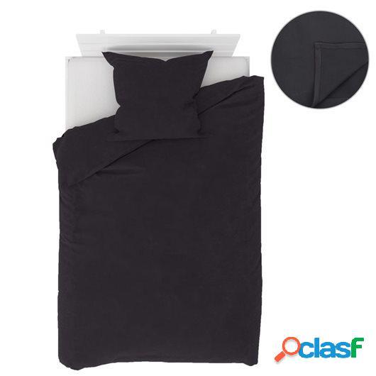 Juego de cama forro polar 4 pzs gris antracita 135x200/80x80