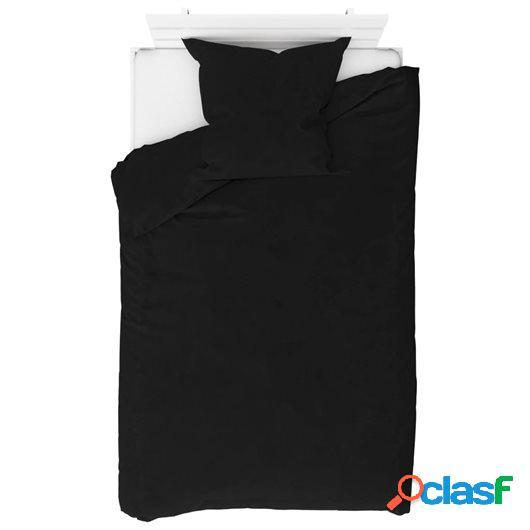 Juego de funda de edredón de 2 piezas negro 135x200/80x80