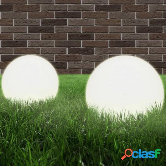 Juego de lámparas de bola LED 2 piezas esféricas 20 cm