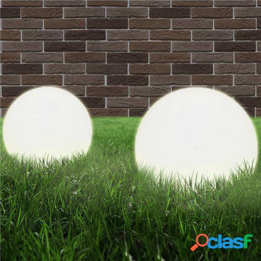 Juego de lámparas de bola LED 2 piezas esféricas 25 cm