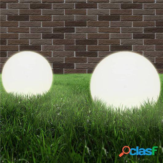 Juego de lámparas de bola LED 2 piezas esféricas 40 cm