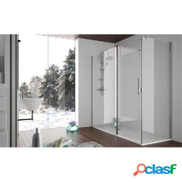 Kassandra - Mampara angular puerta abatible + lateral SA503