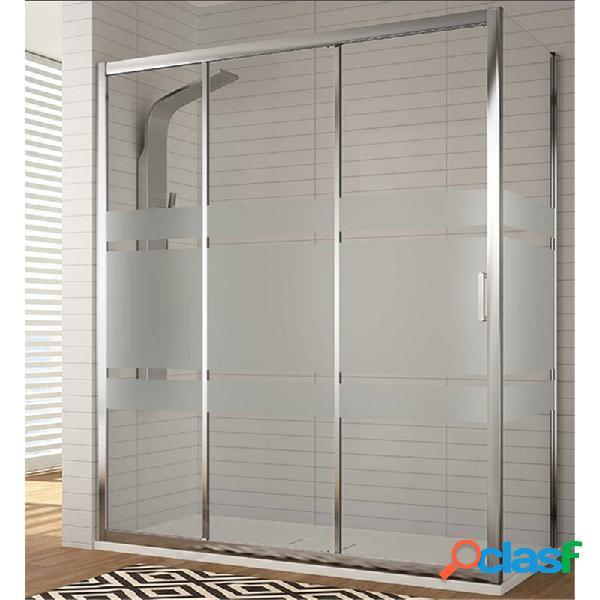Kassandra - Mampara frontal 2 puertas correderas y lateral