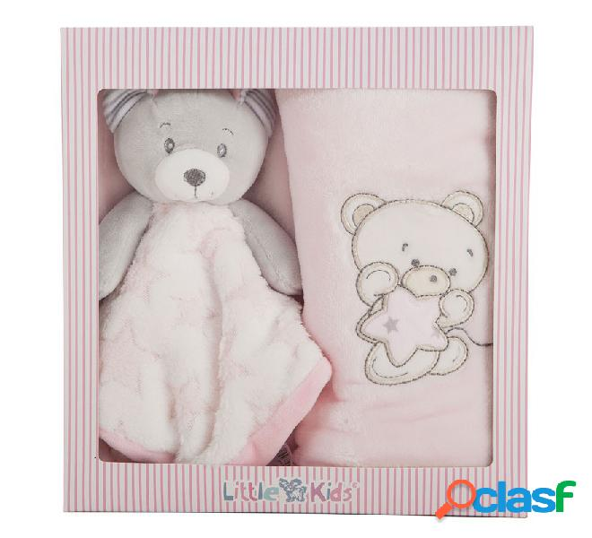 Kit de Dou Dou de 29 cm y Manta Rosa de 100x75 cm en caja