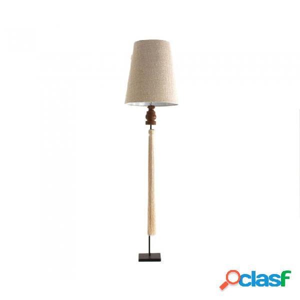 Lampara De Pie Beige Resina 45 X 210