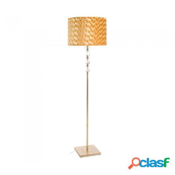 Lampara De Pie Oro Cristal Metal Y Retro 38.00 X 165.00