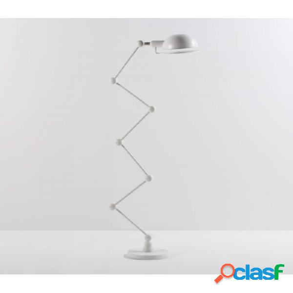 Lampara Pie Blanco Metal Moderno 54x20x110