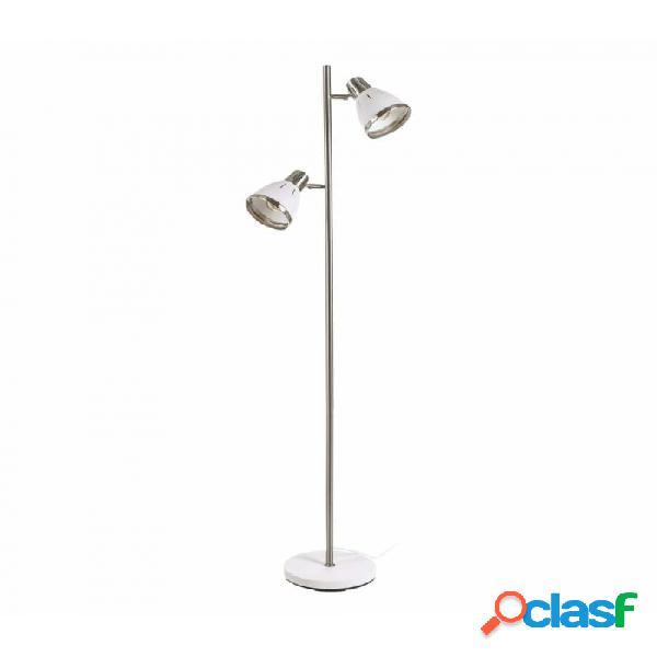 Lampara Suelo Blanco Metal Industrial 40.00 X 25.00 154.00