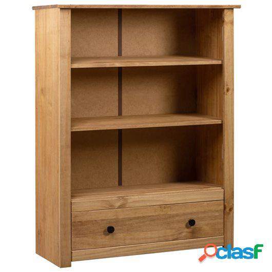 Librería de madera maciza de pino estilo Panamá 80x35x100
