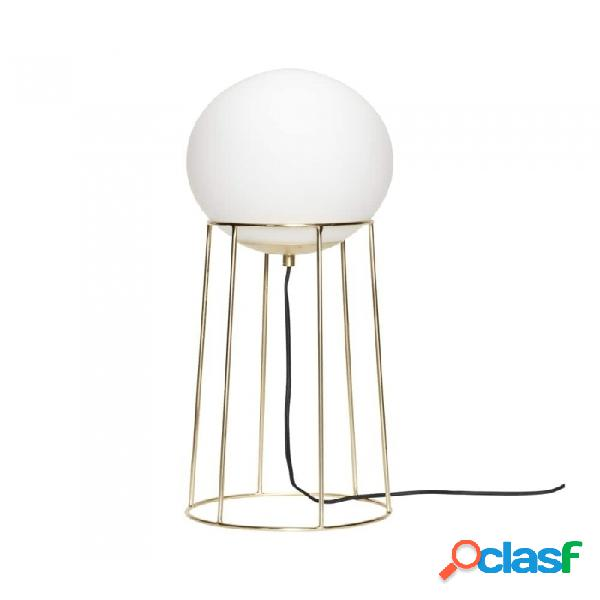 Lámpara De Mesa Dorado Metal Clasico D25xh60, E27/40w