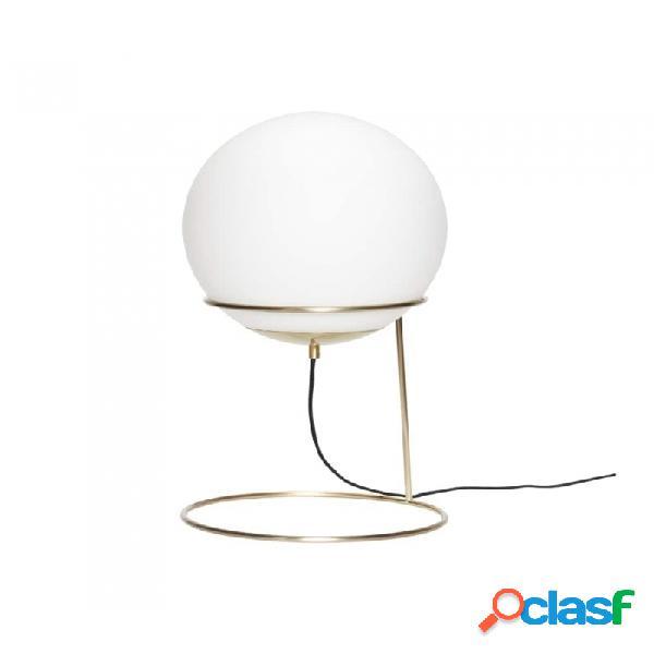 Lámpara De Mesa Dorado Metal Clasico D30xh53, E27/40w