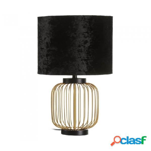 Lámpara De Mesa Negro Oro Metal Moderno 29.00 X 51.00