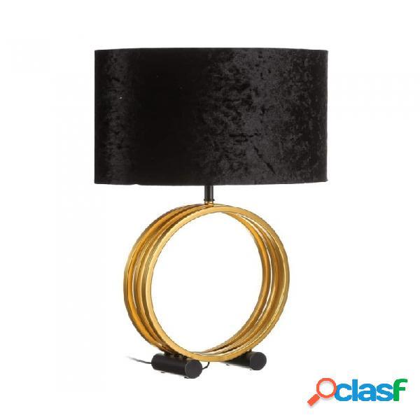 Lámpara De Mesa Negro Oro Metal Moderno 46.00 X 62.00