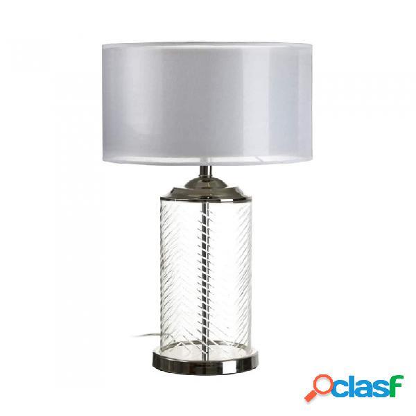 Lámpara De Mesa Plata Cristal Y Clasico 40.00 X 79.00