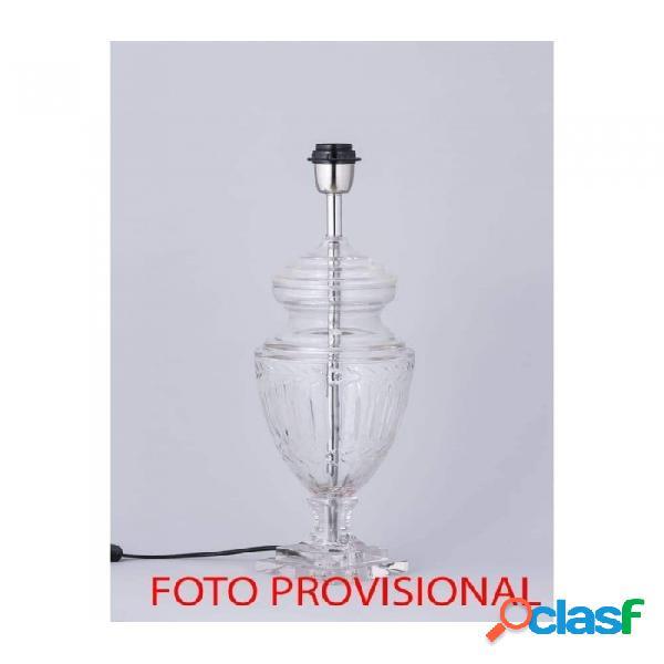 Lámpara De Sobremesa Transparente Hierro Y Vidrio 36 X 7268