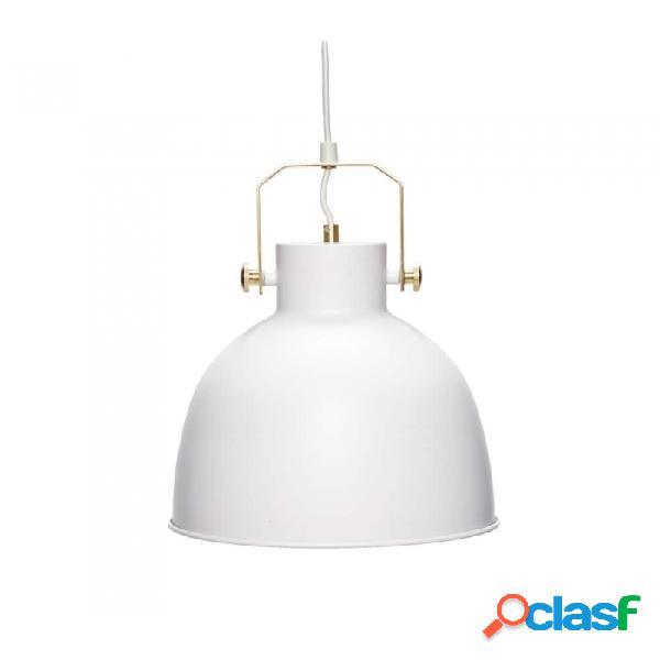 Lámpara De Techo Blanco Metal Industrial D29xh41, E27/60w