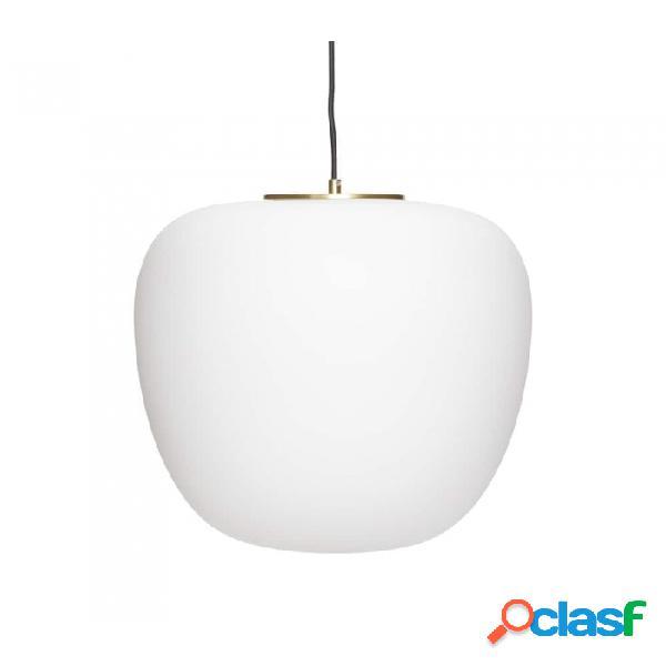 Lámpara De Techo Blanco Vidrio Clasico D40xh40, E27/15w