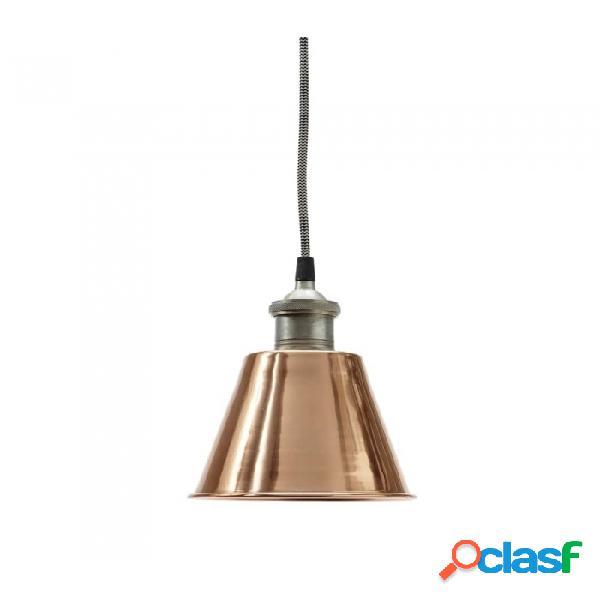 Lámpara De Techo Cobre Metal Industrial Ø15xh18, E27/40w