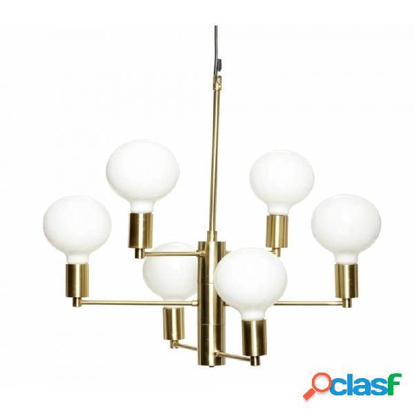 Lámpara De Techo Dorado Metal Clasico 57xh59, E27/40w