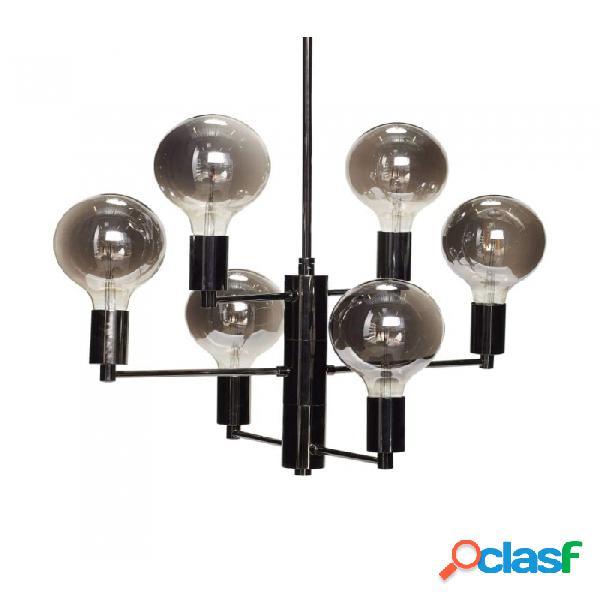 Lámpara De Techo Gris Metal Clasico 57xh59, E27/25w