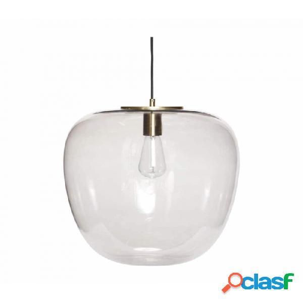 Lámpara De Techo Gris Vidrio Clasico D40xh40, E27/15w