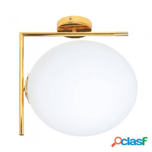 Lámpara De Techo Oro Blanco Cristal Metal Y Moderno 42.00 X