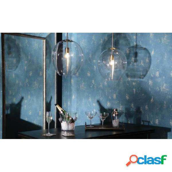 Lámpara De Techo Oro Cristal Metal Y Moderno 32 X 40