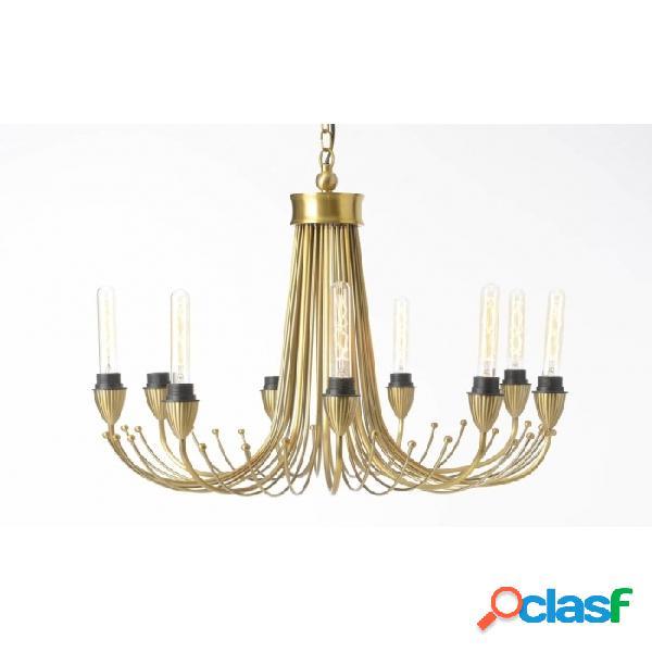 Lámpara De Techo Oro Metal Clasico 76 X 173