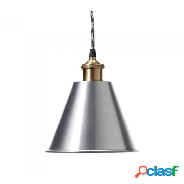 Lámpara De Techo Plata Metal Industrial Ø19xh24, E27/40w