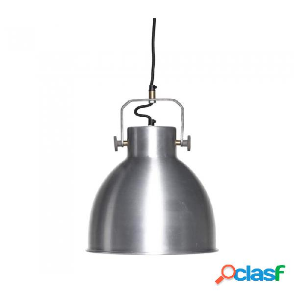 Lámpara De Techo Plata Metal Industrial D29xh41, E27/40w