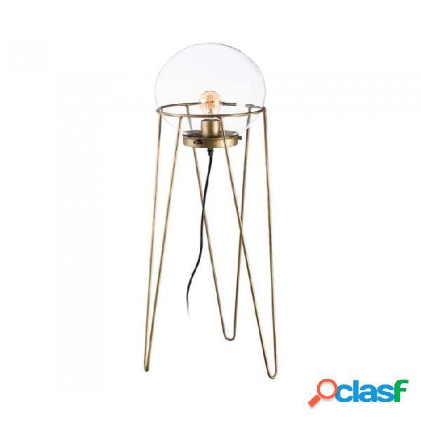 Lámpara Mesa Oro Cristal Metal Y 33.00 X 105.00